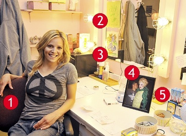 Bubbly good witch Katie Rose Clarke's Dressing Room