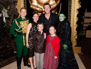 Tim Campbell, Sarah Leonardi (Glenn's fiance), Glenn McGrath, Jemma Rix and Glenn's children