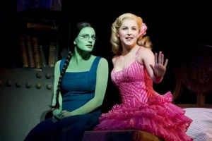 Jackie Burns stars as Elphaba and Chandra Lee Schwartz is Glinda in a production of Wicked opening in Toronto Oct. 20, 2010