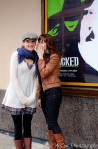 Jackie Burns and Chandra Lee Schwartz recreating the famous poster