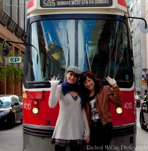 Jackie Burns and Chandra Lee Schwartz embrace Toronto and the TTC Streetcar