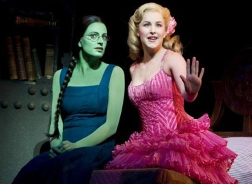 Wicked Lead Actresses Jackie Burns (left) and Chandra Lee Schwartz