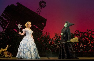 "Natalie Daradich and Vicki Noon star in ""Wicked,"" which will begin at Miller Auditorium Dec. 1-12."