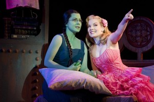 Vicki Noon as Elphaba (left) and Natalie Daradich as Galinda are like two sides of the same coin in Wicked