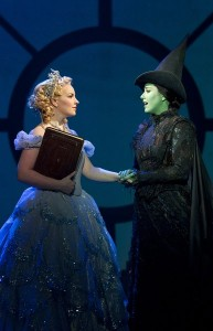 Galinda (left) becomes Glinda the Good Witch of the East; Elphaba becomes the Wicked Witch of the West