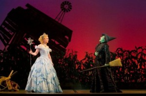 Vicki Noon (right) plays Elphaba and Natalie Daradich is Glinda in the production of Wicked