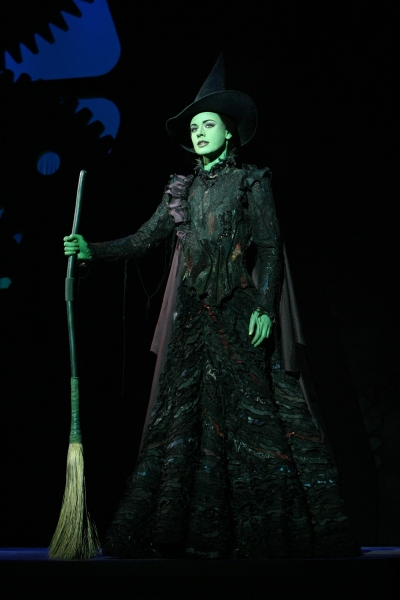 Teal Wicks as Elphaba in Wicked Broadway company