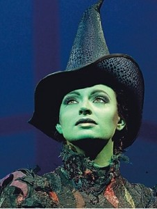 Jackie Burns as Elphaba in Wicked Buffalo, NY