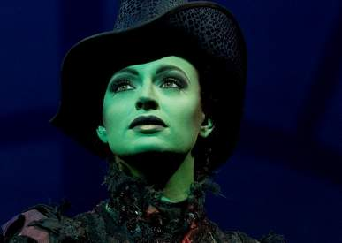 Wicked Elphaba played by Jackie Burns