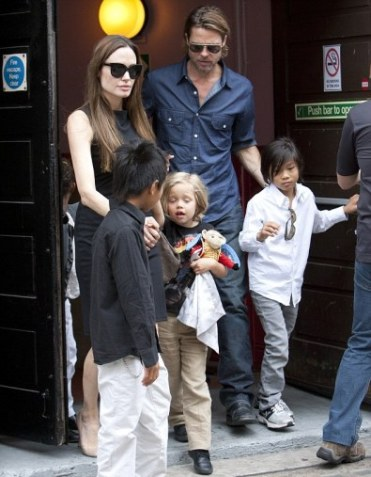 Brad, Angelina had been to Victoria's Apollo Theatre for the Matinee Performance