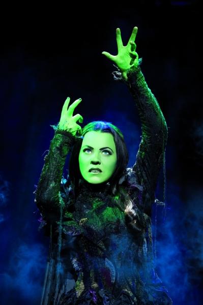 Rachel Tucker as Elphaba in Wicked London