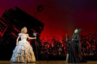 Wicked cast - Tiffany Haas as Glinda and Anne Brummel as Elphaba