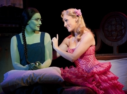Anne Brummel as Elphaba and Tiffany Haas as Glinda