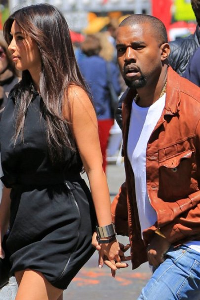 Kim Kardashian with Kanye West to see Wicked