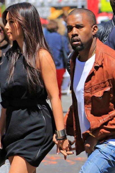 Kim Kardashian with Kanye West to see Wicked
