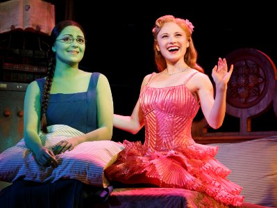 Jennifer DiNoia and Hayley Podschun in Wicked
