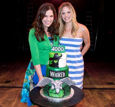 Lindsay Mendez, Katie Rose Clarke with Cake
