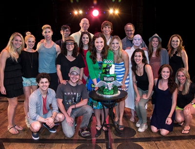 Wicked Cast with the Celebratory Cake