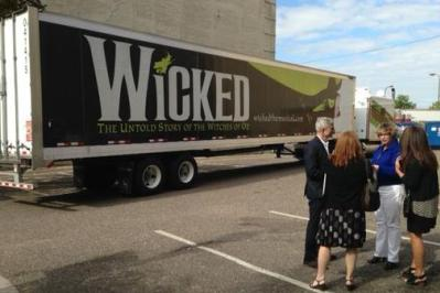 Wicked Truck Outside Orpheum Theatre MN