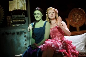 Mary Kate Morrissey as Elphaba and Ginna Claire Mason as Glinda in Wicked Toronto